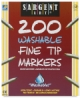 Fine Tip Washable Markers, Class Pack of 200