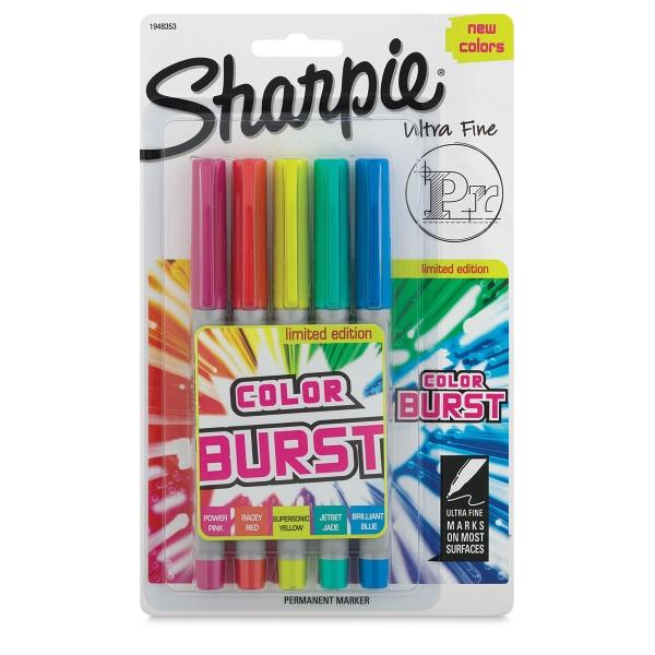 Set of 5, Color Burst Colors