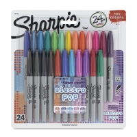 Set of 24, Assorted with Electro Pop Colors