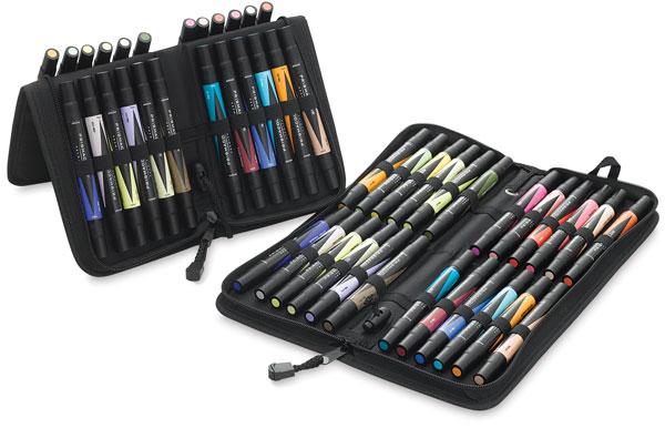 Assorted Colors, Set of 48, Zipper Case