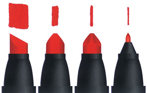 Prismacolor Markers, Line Widths
