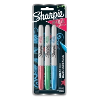 Metallic Fine Point Markers, Set of 3(Emerald, Ruby, and Sapphire)
