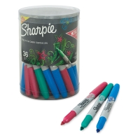 Metallic Fine Point Markers, Set of 36(Emerald, Ruby, and Sapphire)