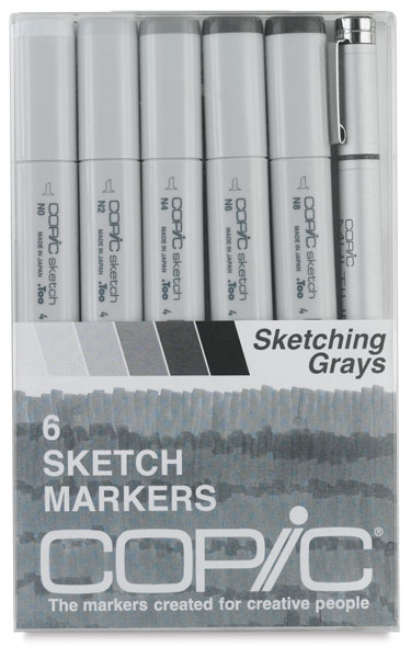 Sketching Grays, Set of 6