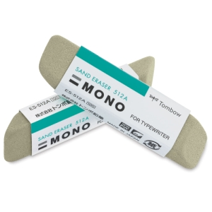 MONO Colored Pencil Erasers, Pkg of 2