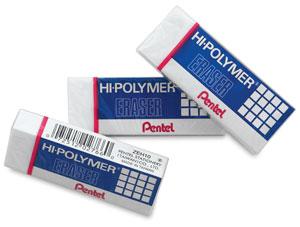 Hi-Polymer Erasers, Pkg of 3