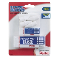Assorted Hi-Polymer Eraser, Pkg of 6