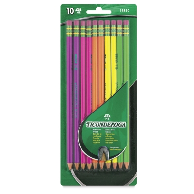 Dixon Ticonderoga Neon Pencils, Pkg of 10