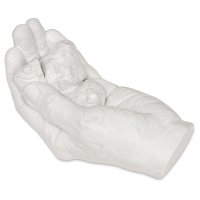 Plaster Hand with Rocks