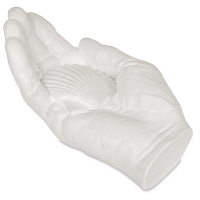Plaster Hand with Shell