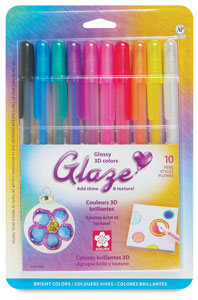 Glaze Pen Set of 10, Assorted Colors