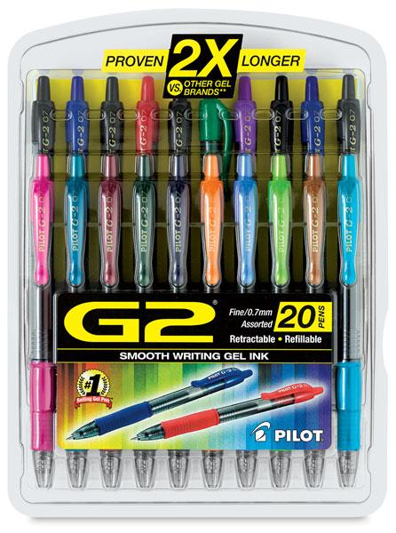 G2 Gel Fine Tip Pens, Set of 20