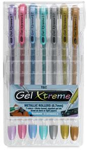 Gel Xtreme Metallics, Set of 7