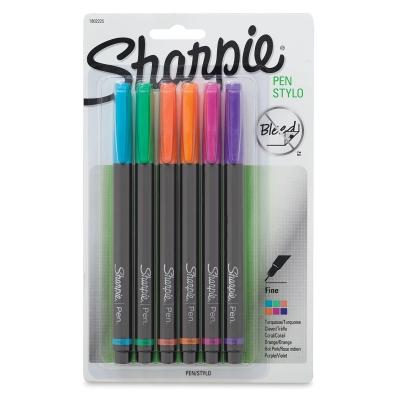 Sharpie Pen, Set of 6 New Colors