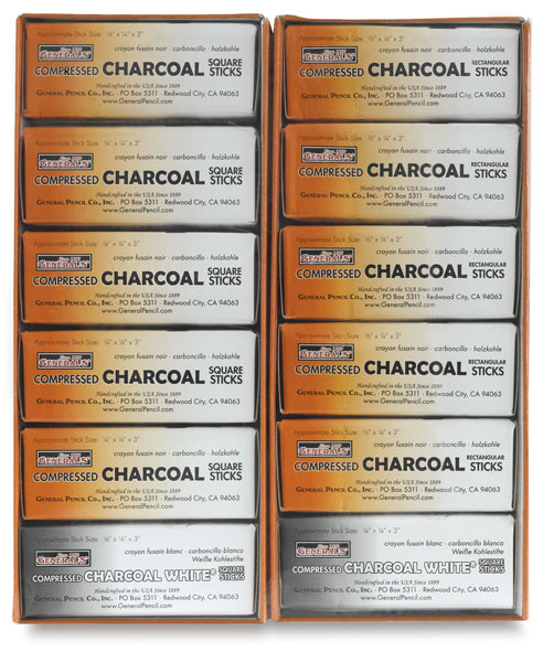 Compressed Charcoal, Class Pack of 114