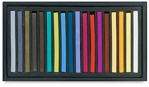 Semi-Hard Square Pastels, Set of 18