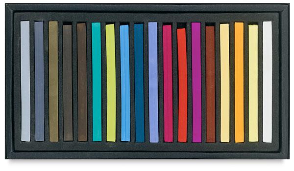 Semi-Hard Square Pastels, Set of 18