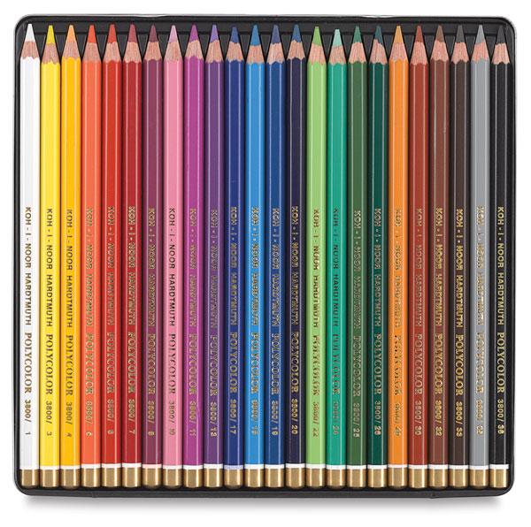 Polycolor Pencils, Set of 24 Colors