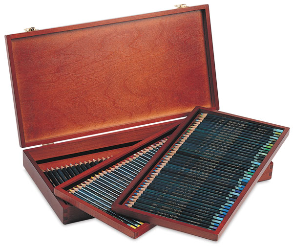 Artists Pencils, Set of 120 in a Wooden Box