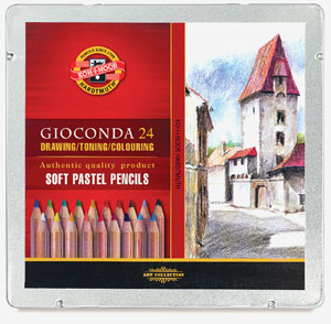 Soft Pastel Pencils, Set of 24