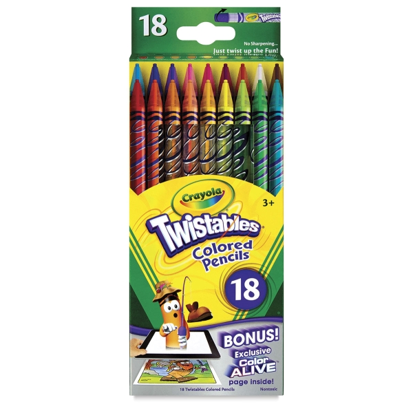 Twistables Colored Pencils, Vibrant Set of 18