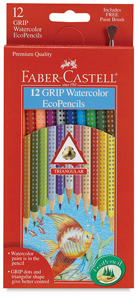 Grip Watercolor EcoPencils, Set of 12