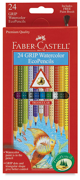 Grip Watercolor EcoPencils, Set of 24
