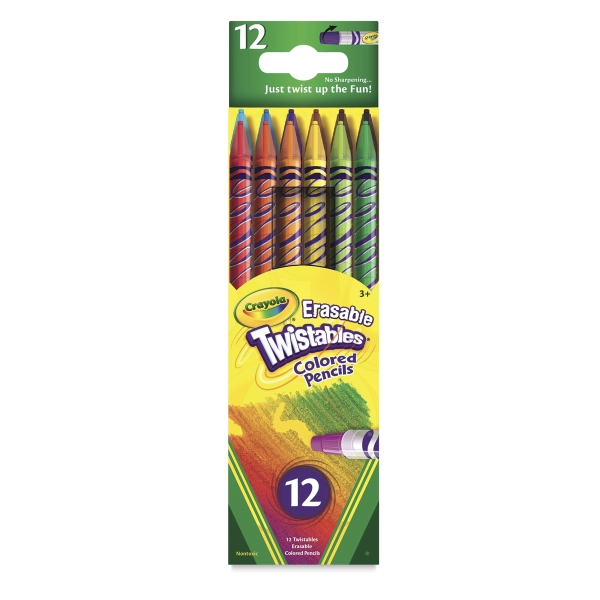 Twistables Colored Pencils, Erasable, Set of 12