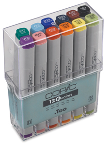 Original Markers, Basic Set of 12 Colors