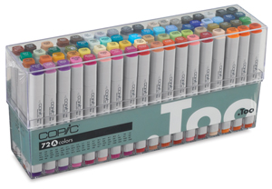 Original Markers, Set A of 72 Colors, Broad Range
