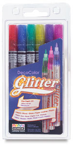 Glitter Markers, Set of 6