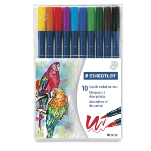 Staedtler Marsgraphic 3000 Duo Watercolor Brush Markers