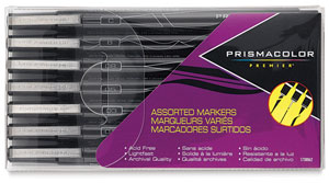 Mixed Tip Markers, Set of 7 Black