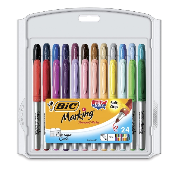 Assorted Colors, Set of 24, Fine