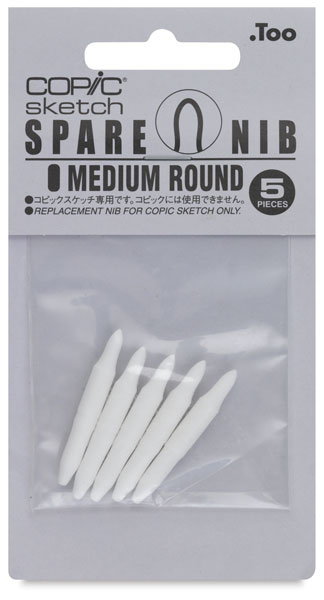 Sketch Replacement Nibs, Set of 5, Medium Round