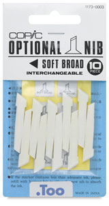 Original Replacement Nibs, Set of 10, Soft Broad