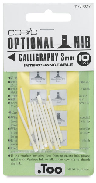 Original Replacement Nibs, Set of 10, Calligraphy, 3 mm