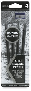 Graphite Pencil Pkg of 4 with FREE Sharpener