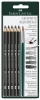Graphite Aquarelle Pencils, Set of 5 w/ Brush