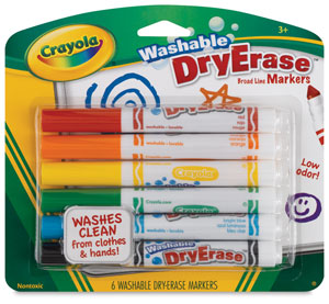 Crayola Washable Dry Erase Markers, Set of 6
