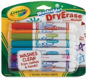 Crayola Washable Dry Erase Markers, Set of 12