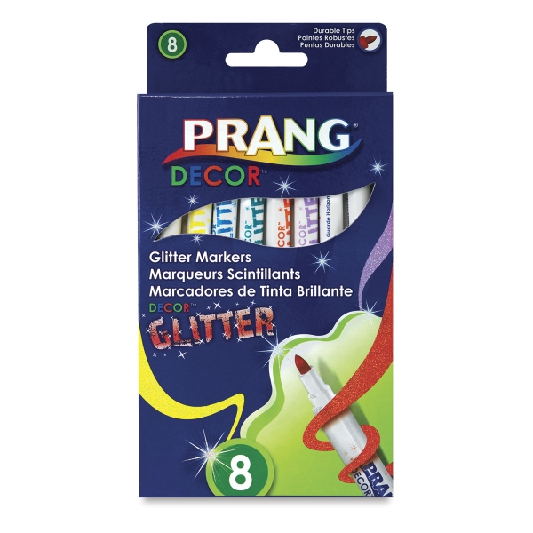 Décor Glitter Markers, Set of 8