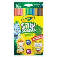 Silly Scents Washable Markers, Set of 10, Slim