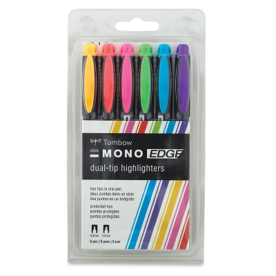Mono Edge Highlighters, Pkg of 6