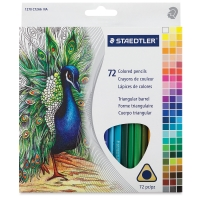 Triangular Colored Pencils, Set of 72