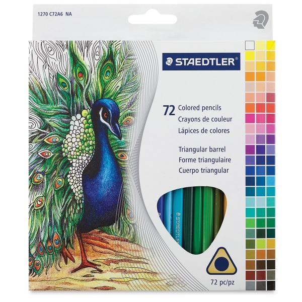 Triangular Colored Pencils, Set of 72