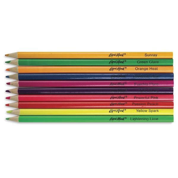 Neon Colored Pencils, Set of 10