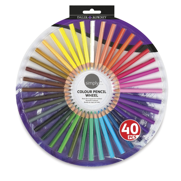 Simply Colour Pencil Wheel, Set of 40