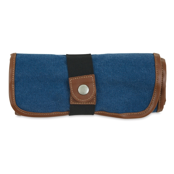 Roll Up Pencil Case for 36 Pencils, Denim