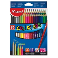 Color'Peps Triangular Colored Pencils, Set of 36